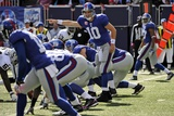 Raiders Giants Football: East Rutherford, NJ - Eli Manning Photographic Print by Bill Kostroun