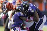 Bengals Ravens Football: Baltimore, MD - Ray Lewis Photographie par Nick Wass