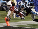 Cardinals Panthers Football: Charlotte, NORTH CAROLINA - Larry Fitzgerald Photo av Chuck Burton