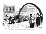 """""""It's one of our local customs—the annual blessing of the lawnmowers."""" - New Yorker Cartoon Premium Giclee Print by Warren Miller"""