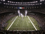 Lions Saints Football: New Orleans, LA - Saints Enter the Superdome Photographic Print by Patrick Semansky