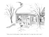 """Along about the third quarter, I finally realized that I no longer have w…"" - New Yorker Cartoon Premium Giclee Print by Everett Opie"