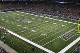 Packers Rams Football: St. Louis, MO - Edward Jones Dome Panorama Photographic Print by Tom Gannam