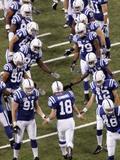 Bears Colts Football: Indianapolis, INDIANA - Peyton Manning Fotografisk trykk av AJ Mast
