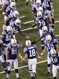 Bears Colts Football: Indianapolis, INDIANA - Peyton Manning Photographic Print by AJ Mast