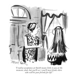 """I realize acceptance at Smith means little to you at the moment, dear, bu…"" - New Yorker Cartoon Premium Giclee Print by Donald Reilly"