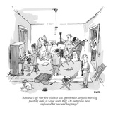 """Rehearsal's off! Our first violinist was apprehended early this morning p…"" - New Yorker Cartoon Premium Giclee Print by George Booth"