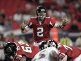 Ravens Falcons Football: Atlanta, GA - Matt Ryan Photographie par John Amis