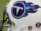 Buccaneers Titans Football: Nashville, TN - Tennessee Titans Helmet Photo by Mark Humphrey