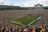 Bengals Packers Football: Green Bay, WI - Lambeau Field Panorama Photographic Print by Mike Roemer
