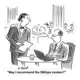 """May I recommend the 56Kbps modem."" - Cartoon Premium Giclee Print by Aaron Bacall"