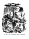 """""""Gosh, thanks, Mr. Kubeck, but shouldn't all this be going back into plant…"""" - New Yorker Cartoon Premium Giclee Print by Jr., Whitney Darrow"""