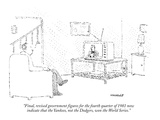 """Final, revised government figures for the fourth quarter of 1981 now indi…"" - New Yorker Cartoon Premium Giclee Print by Robert Mankoff"