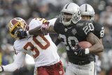 Redskins Raiders Football: Oakland, CA - Darren Mcfadden Photographic Print by Jeff Chiu