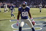 Raiders Giants Football: East Rutherford, NJ - Hakeem Nicks Photographic Print by Bill Kostroun