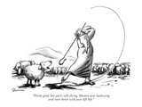 """Pretty good, but you're still slicing. Shorten your backswing and start d…"" - New Yorker Cartoon Premium Giclee Print by Eldon Dedini"