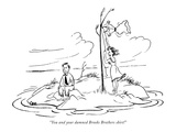 """""""You and your damned Brooks Brothers shirt!"""" - New Yorker Cartoon Premium Giclee Print by Charles E. Martin"""