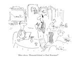 """Blue-cheese, Thousand Island, or Paul Newman?"" - New Yorker Cartoon Premium Giclee Print by Arnie Levin"