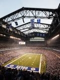 Colts New Stadium Football: Indianapolis, INDIANA - Lucas Oil Stadium Photographic Print by Tom Strickland