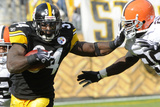 Browns Steelers Football: Pittsburgh, PA - Rashard Mendenhall Fotografisk trykk av Tom E. Puskar