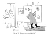 """He had the Guggenheim in mind, I think."" - New Yorker Cartoon Premium Giclee Print by Dana Fradon"
