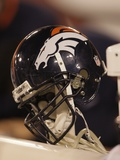 49ers Broncos Football: San Francisco, CA - A Denver Broncos Helmet Photo by Jeff Chiu