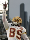 Redskins Seahawks Football: Seattle, WASHINGTON - Santana Moss Lmina fotogrfica por John Froschauer