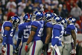 Cardinals Giants Football: East Rutherford, NJ - Giants Defense Fotografisk trykk av Tim Larsen