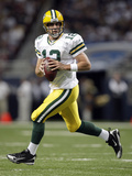 Packers Rams Football: St. Louis, MO - Aaron Rodgers Photographic Print by Jeff Roberson