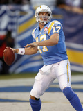 Broncos Chargers Football: San Diego, CA - Philip Rivers Photographic Print by Denis Poroy