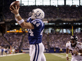 Broncos Colts Football: Indianapolis, IN - Dallas Clark Photographic Print by Darron Cummings