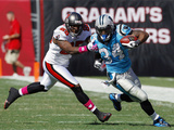 Panthers Buccaneers Football: Tampa, FL - DeAngelo Williams Posters av Chris O'Meara