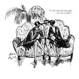 """I don't think he's abnormal—he's just versatile."" - New Yorker Cartoon Premium Giclee Print by Barbara Shermund"
