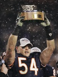 Saints Bears Football: Chicago, ILLINOIS - Brian Urlacher Print by Jeff Roberson