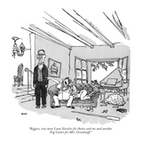 """Biggers, two more Luau Sizzlers for Annie and me and another Fog Cutter f…"" - New Yorker Cartoon Premium Giclee Print by George Booth"