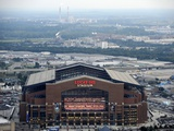 Indianapolis Colts--Lucas Oil Stadium: Indianapolis, INDIANA - Lucas Oil Stadium Fotografisk trykk av Tom Strickland