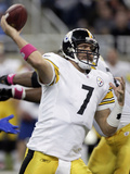 Steelers Lions Football: Detroit, MI - Ben Roethlisberger Photo by Duane Burleson
