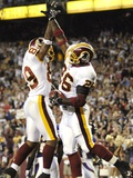VIKINGS REDSKINS FOOTBALL: LANDOVER, MARYLAND - Santana Moss Plakat av Nick Wass