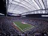 Jets Texans Football: Houston, TX - Texas Flag at Reliant Stadium Photographic Print by Pat Sullivan