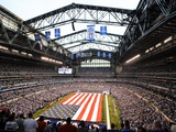 Indianapolis Colts--Lucas Oil Stadium: Indianapolis, INDIANA - Lucas Oil Stadium Plakater av Tom Strickland