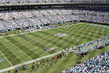 Eagles Panthers Football: Charlotte, NC - Bank of America Stadium Panorama Print by Nell Redmond