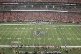 Dolphins Falcons Football: Atlanta, GA - Georgia Dome Panorama Photographic Print by John Amis