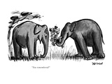 """""""You remembered!"""" - New Yorker Cartoon Premium Giclee Print by Frank Modell"""