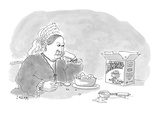 Queen Victoria gazes contentedly at a carton of &#39;Prince Albert Royal Fudge - Cartoon Premium Giclee Print by Jack Ziegler