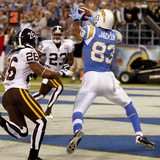 Broncos Chargers Football: San Diego, CA - Vincent Jackson Photographic Print by Denis Poroy