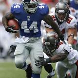 Giants Buccaneers Football: Tampa, FL - Ahmad Bradshaw Plakater av Brian Blanco