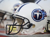 Buccaneers Titans Football: Nashville, TN - Tennessee Titans Helmets Photographic Print by John Russell