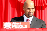 Los Angeles Angels of Anaheim, CA - December 10: Newly Signed Albert Pujols Photographic Print by Stephen Dunn
