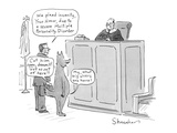 Lawyer with wolf defendant says to judge, 'We plead insanity, your honor, … - Cartoon Premium Giclee Print by Danny Shanahan
