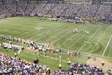 49ers Vikings Football: Minneapolis, MN - Hubert H. Humphrey Metrodome Panorama Photographic Print by Paul Battaglia
